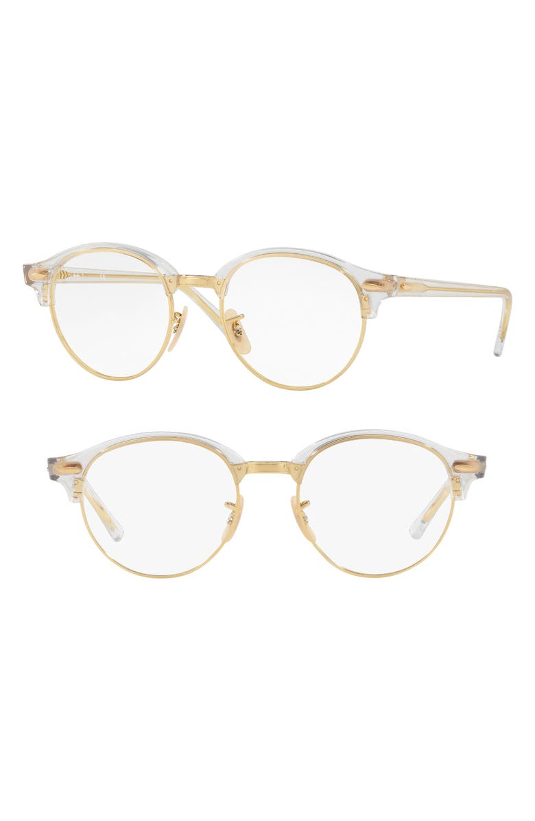 RAY-BAN 4246V 49mm Optical Glasses, Main, color, TRANSPARENT
