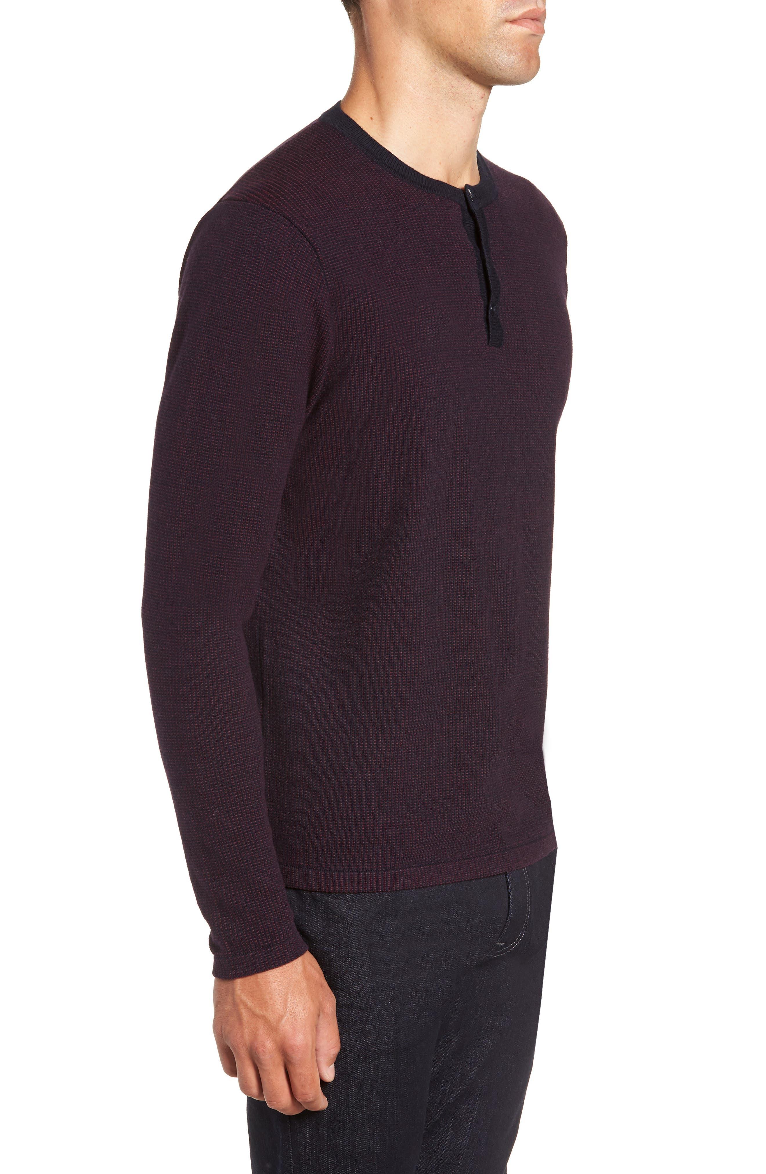 ,                             Kimball Regular Fit Henley Sweater,                             Alternate thumbnail 3, color,                             WINE