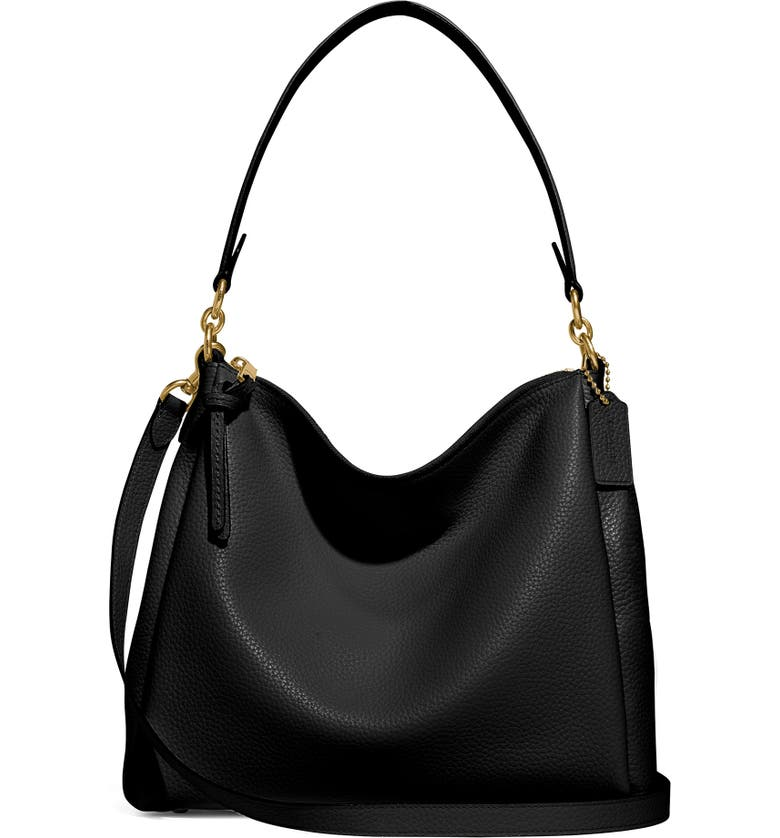 COACH Shay Shoulder Bag, Main, color, BRASS/ BLACK