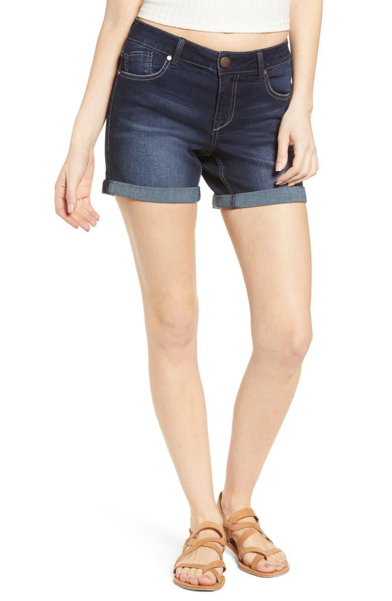 1822 DENIM Cuffed Denim Shorts, Main, color, RAQUEL