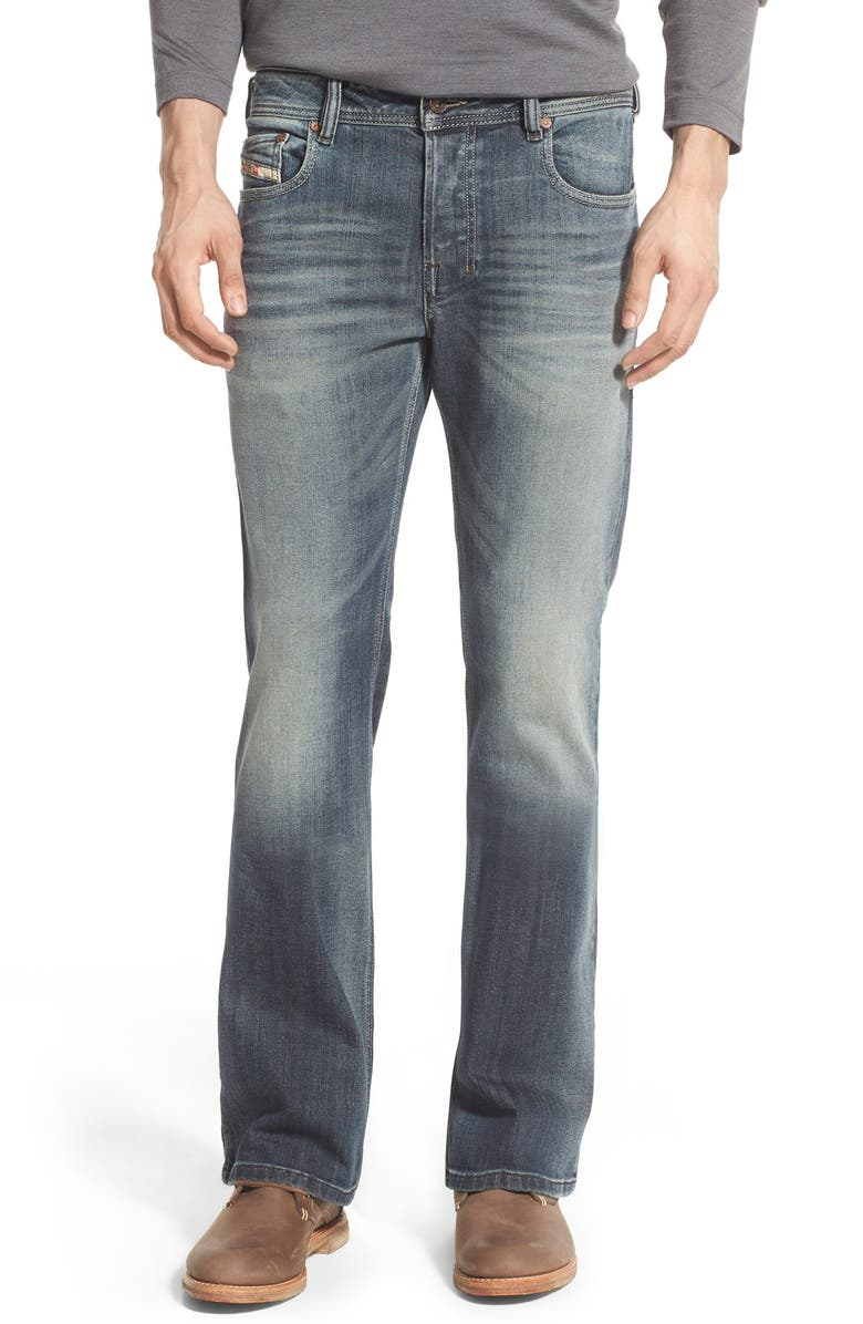 DIESEL<SUP>®</SUP> 'Zathan' Bootcut Jeans, Main, color, 400