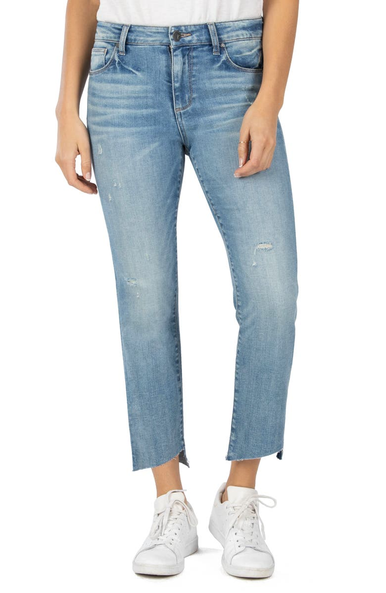KUT FROM THE KLOTH Reese Slanted Ankle Straight Leg Jeans, Main, color, 405