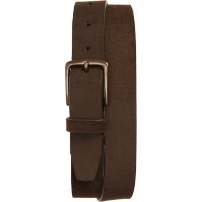Trask Elkhorn Leather Belt, Snuff
