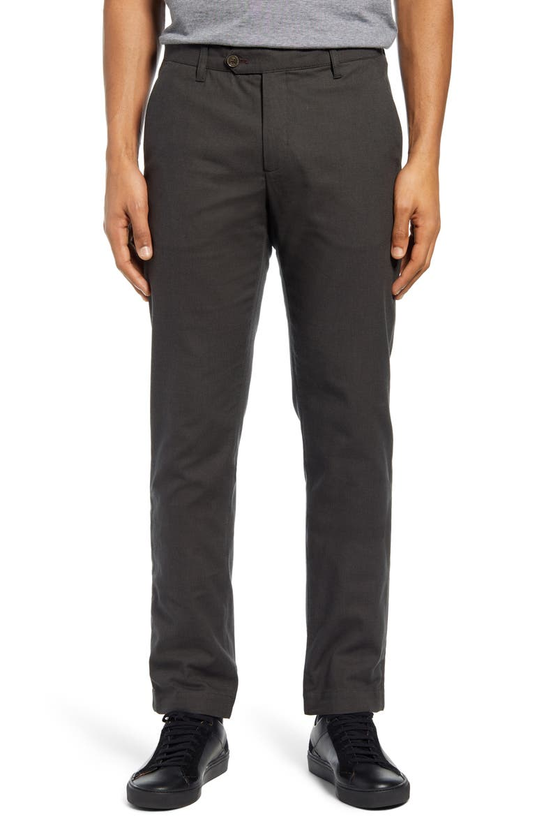 TED BAKER LONDON Penguin Slim Fit Classic Dress Pants, Main, color, OLIVE