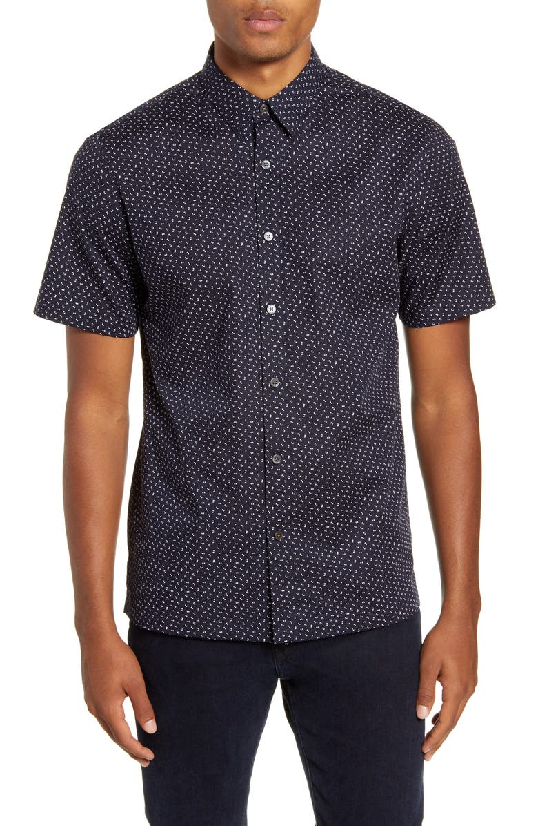 THEORY Irving Alder Button-Up Shirt, Main, color, ECLIPSE