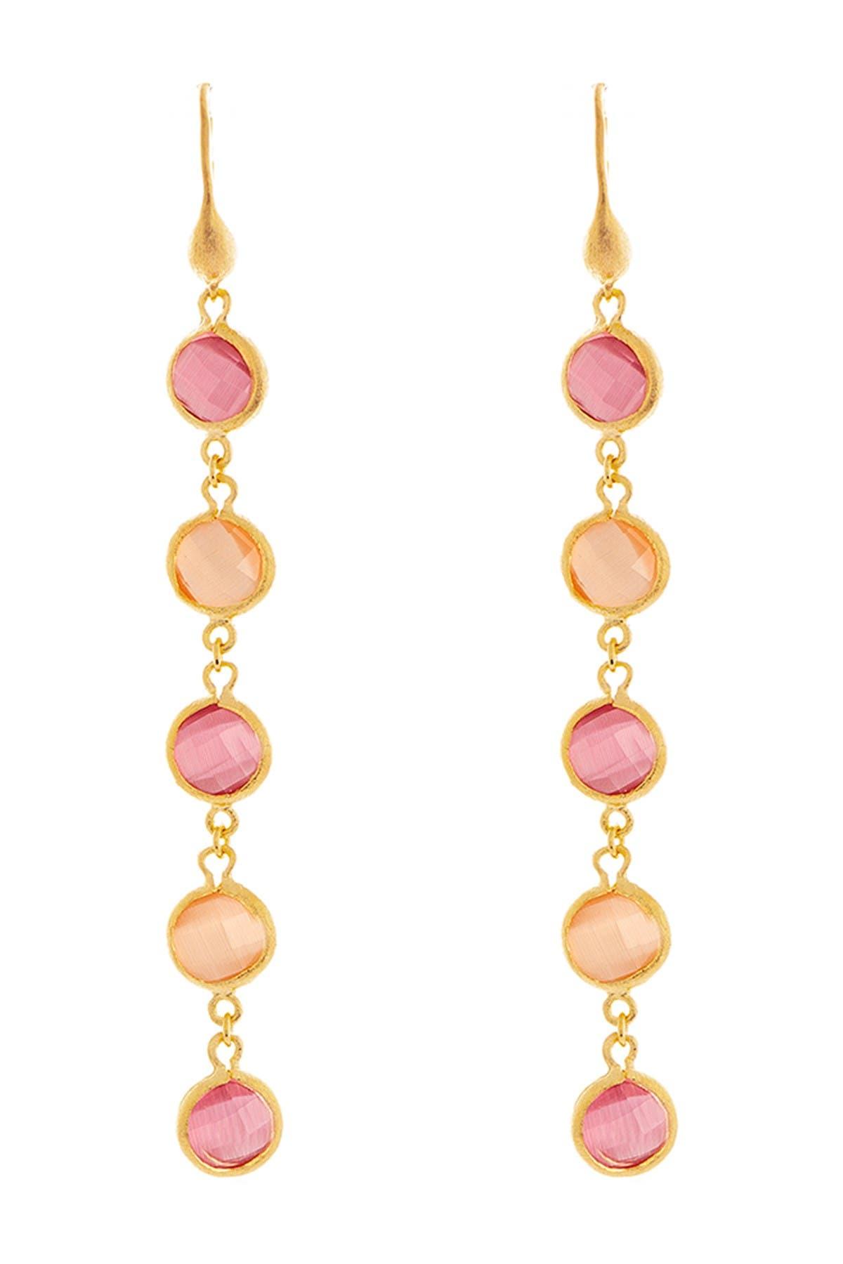 Image of Rivka Friedman 18K Gold Clad Crystal Cascading Dangle Earrings