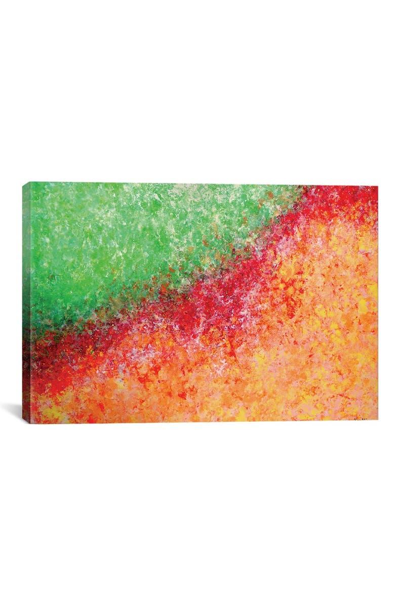 ICANVAS 'Breath of Life' Giclée Print Canvas Art, Main, color, ORANGE