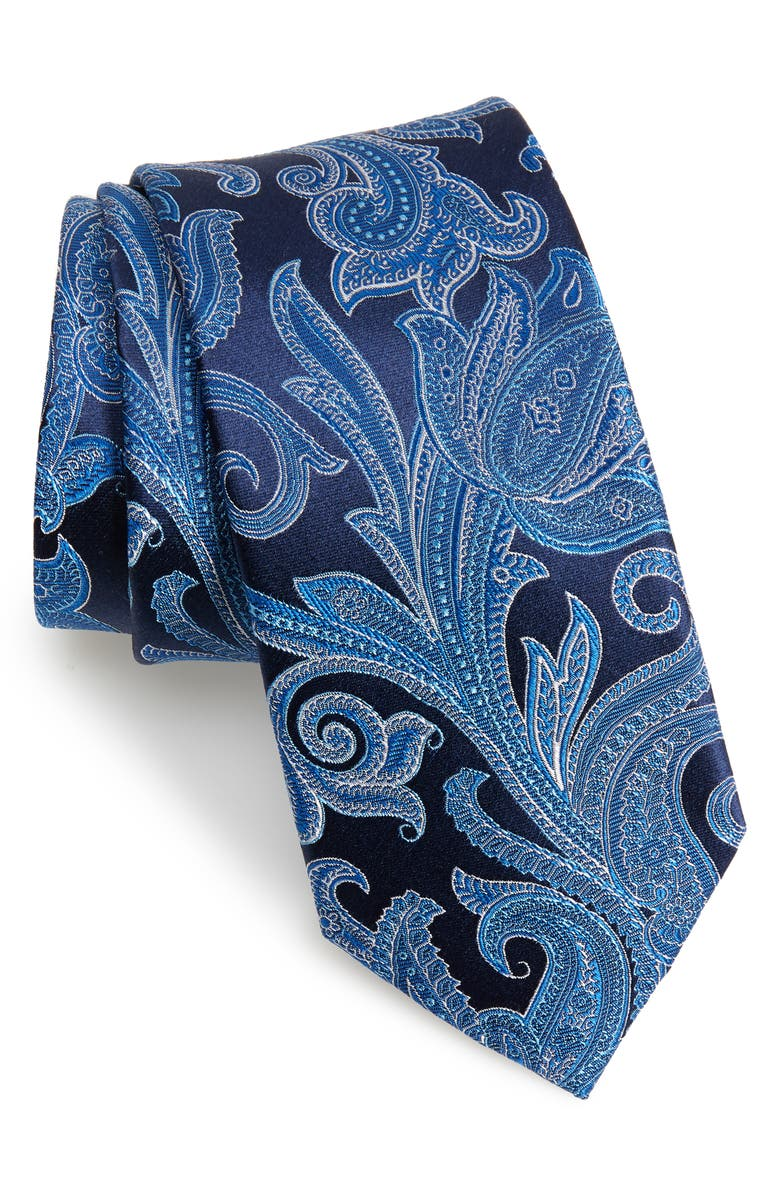 TED BAKER LONDON Paisley Silk Tie, Main, color, 411