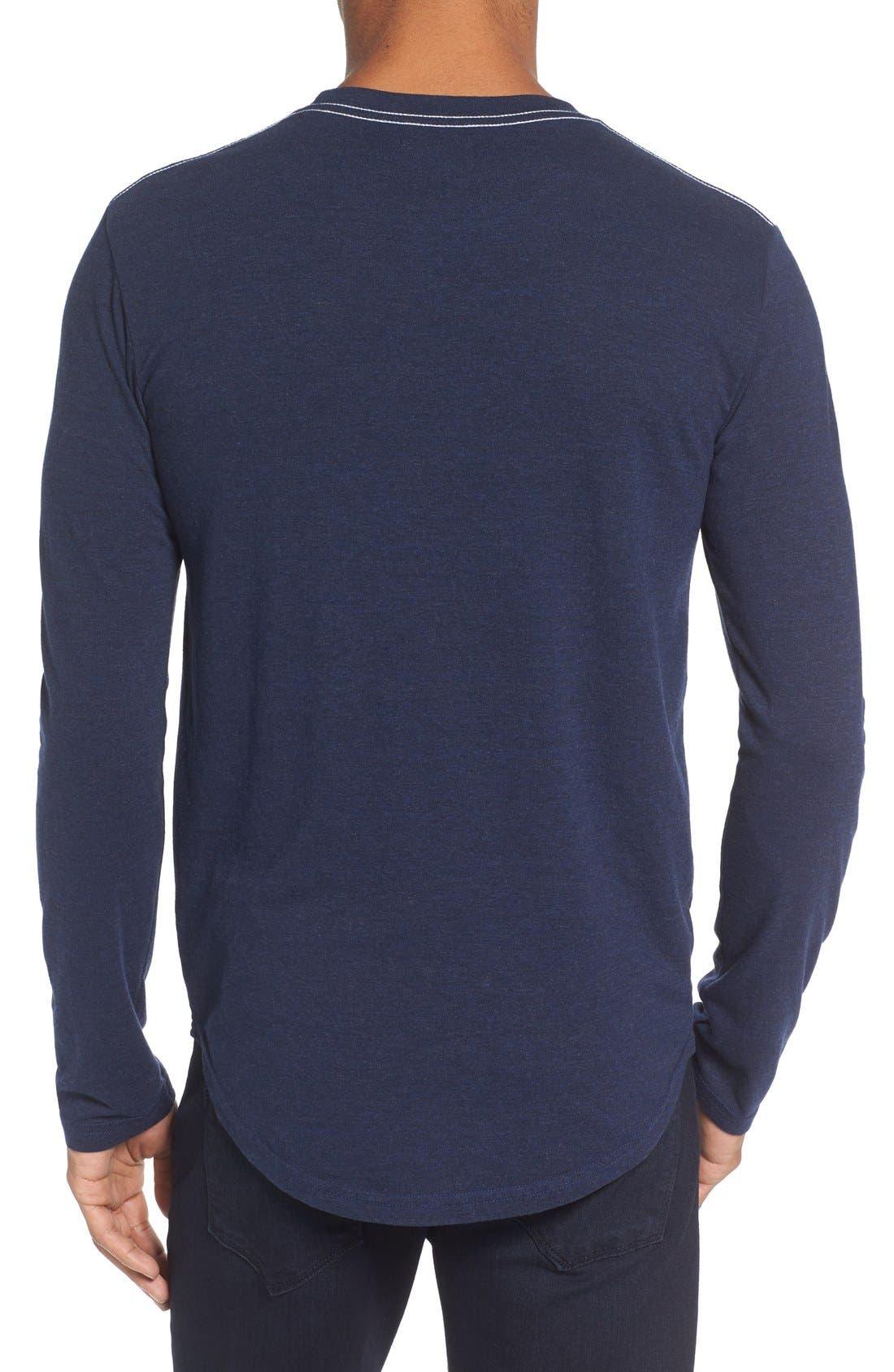 ,                             Triblend Scallop Long Sleeve Crewneck T-Shirt,                             Alternate thumbnail 26, color,                             400