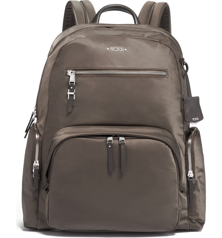 TUMI Voyager Carson Nylon Backpack, Main, color, MINK/ SILVER