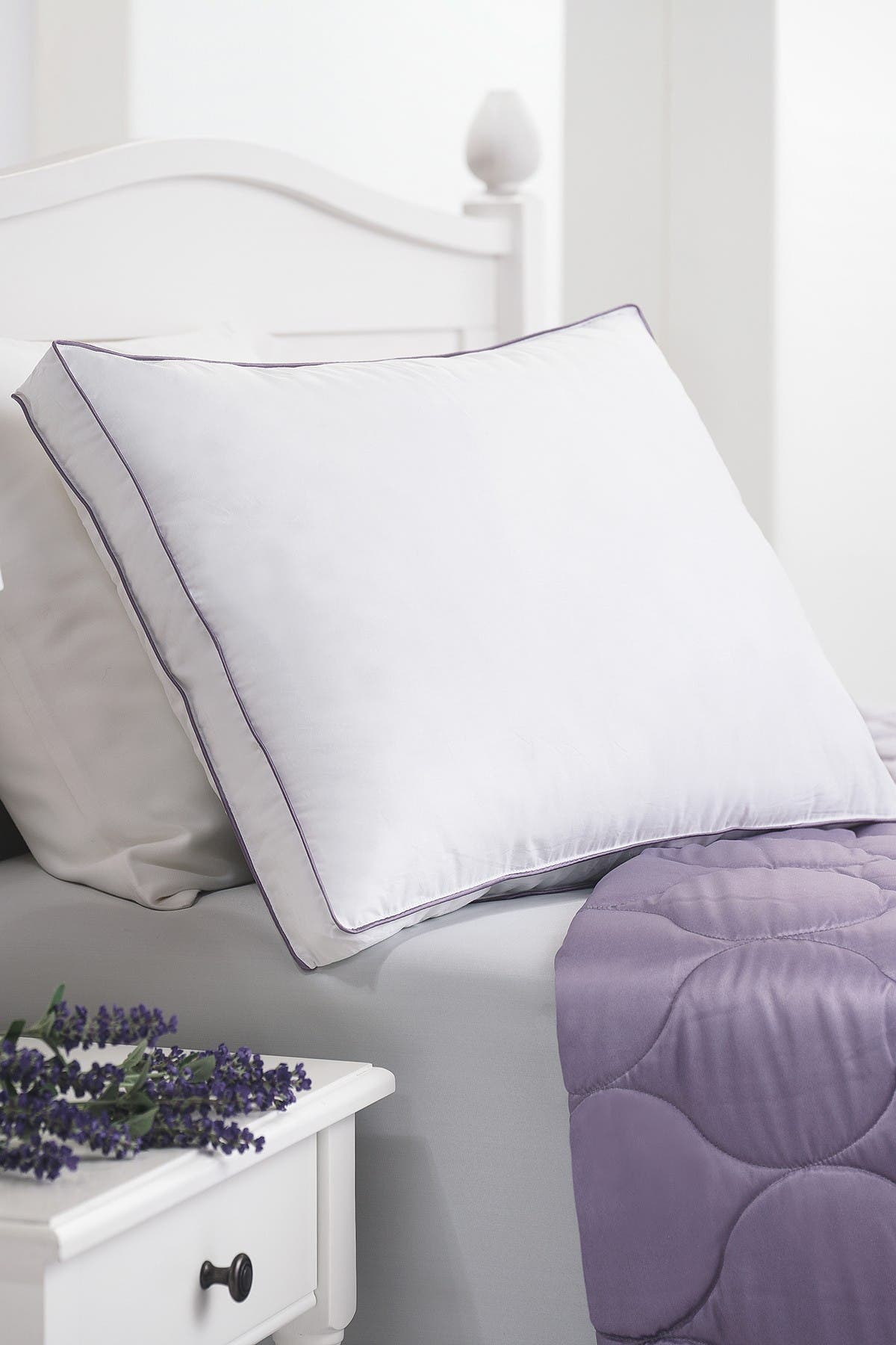Image of Allied Home Aroma Infusion Standard Lavender Scented Cotton Gel Fiber Pillow