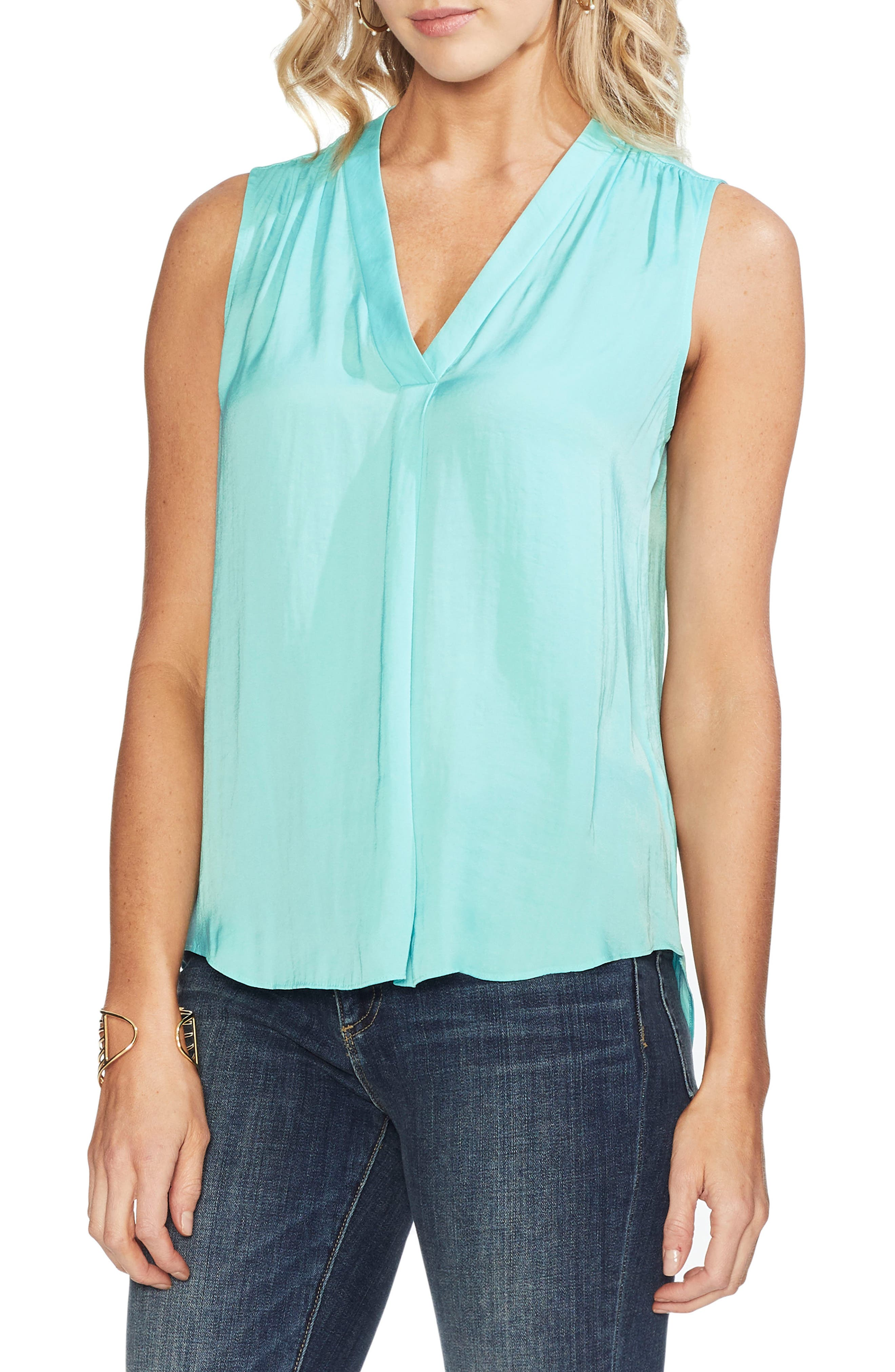 ,                             Rumpled Satin Blouse,                             Main thumbnail 30, color,                             419