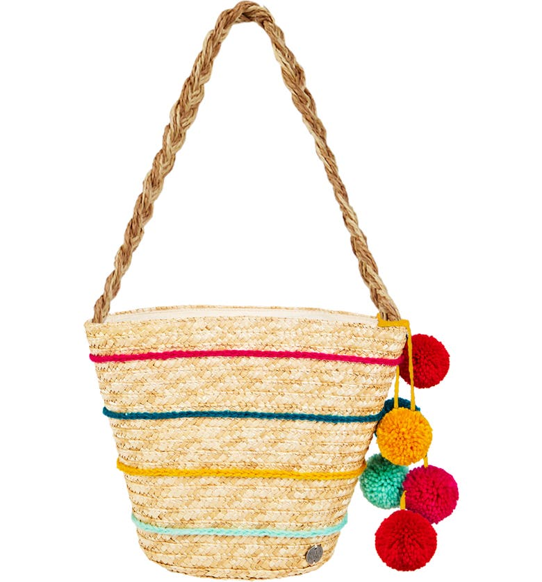 BILLABONG Sun Seeker Stripe Straw Tote, Main, color, NATURAL