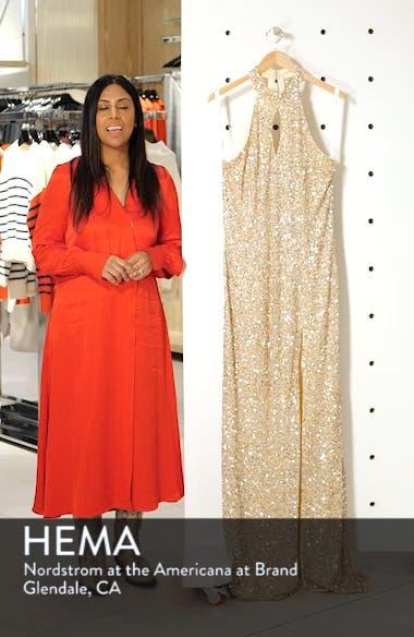Sequin Mesh Evening Dress, sales video thumbnail