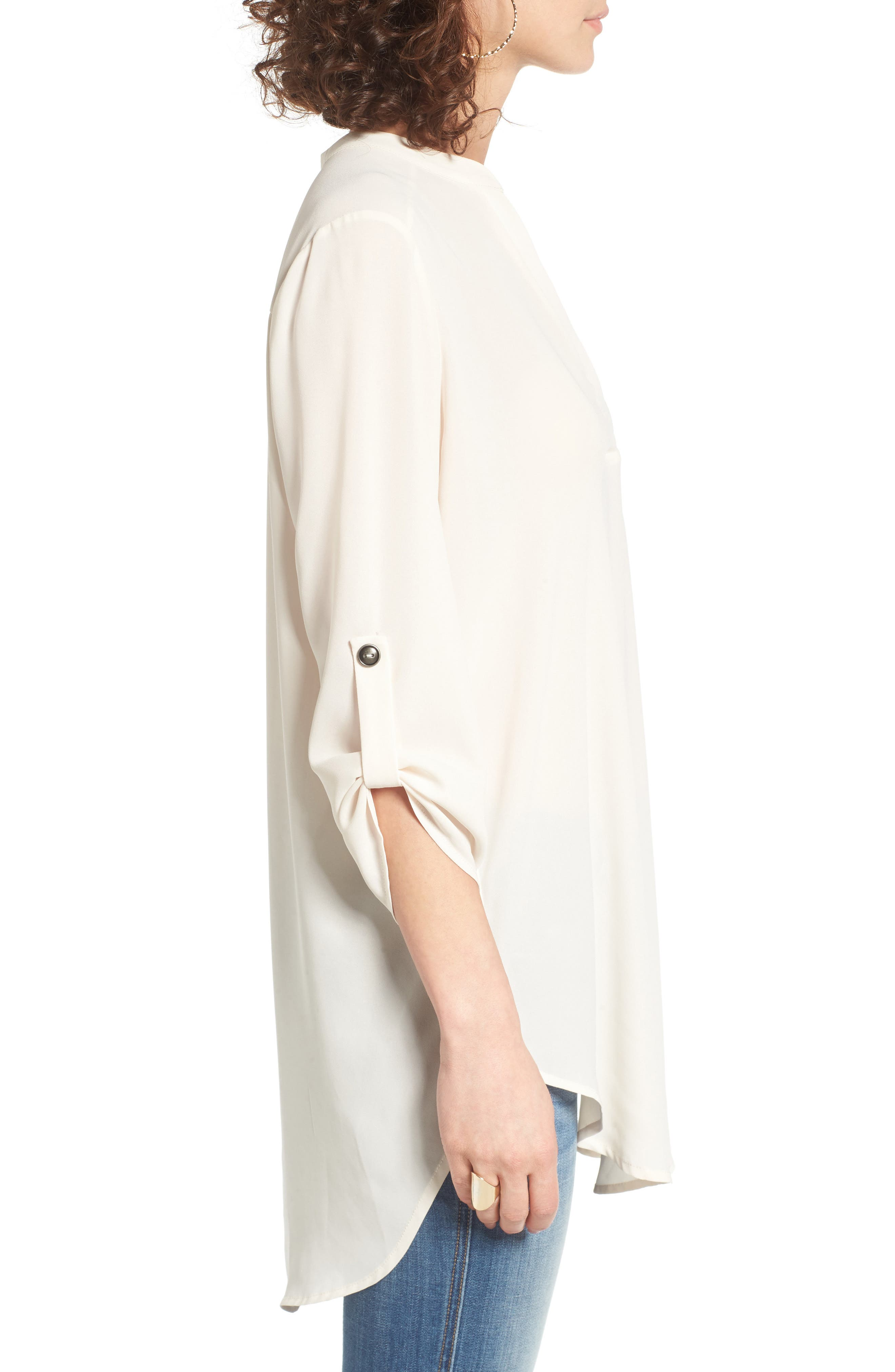 ,                             Perfect Roll Tab Sleeve Tunic,                             Alternate thumbnail 421, color,                             904