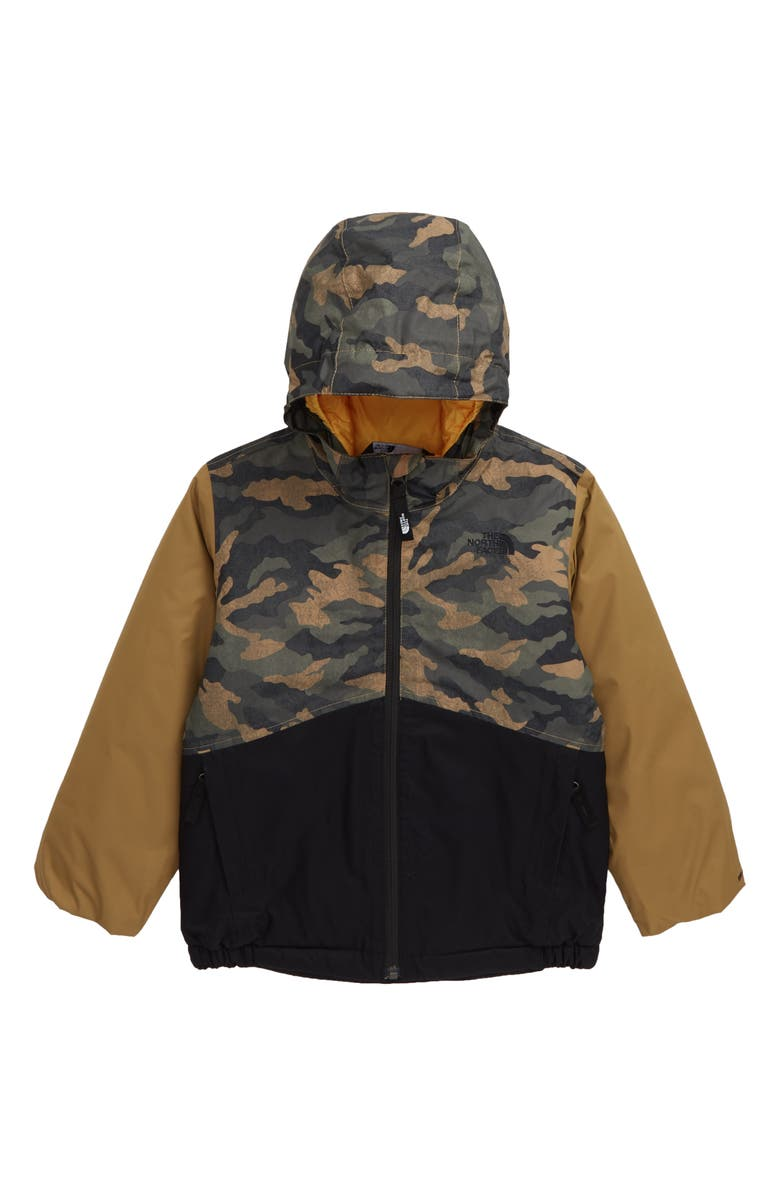 THE NORTH FACE Snowquest Waterproof Insulated Winter Jacket, Main, color, BRITISH KHAKI CAMO PRINT