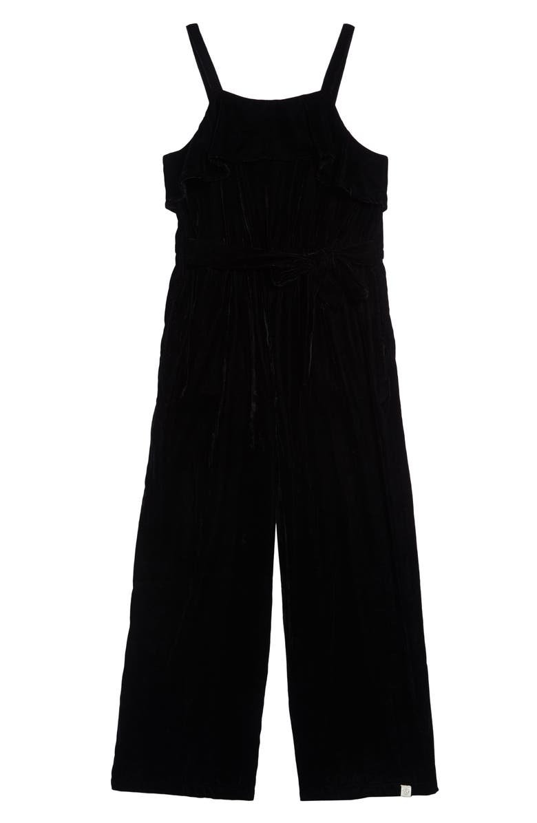 TREASURE & BOND Sleeveless Jumpsuit, Main, color, BLACK