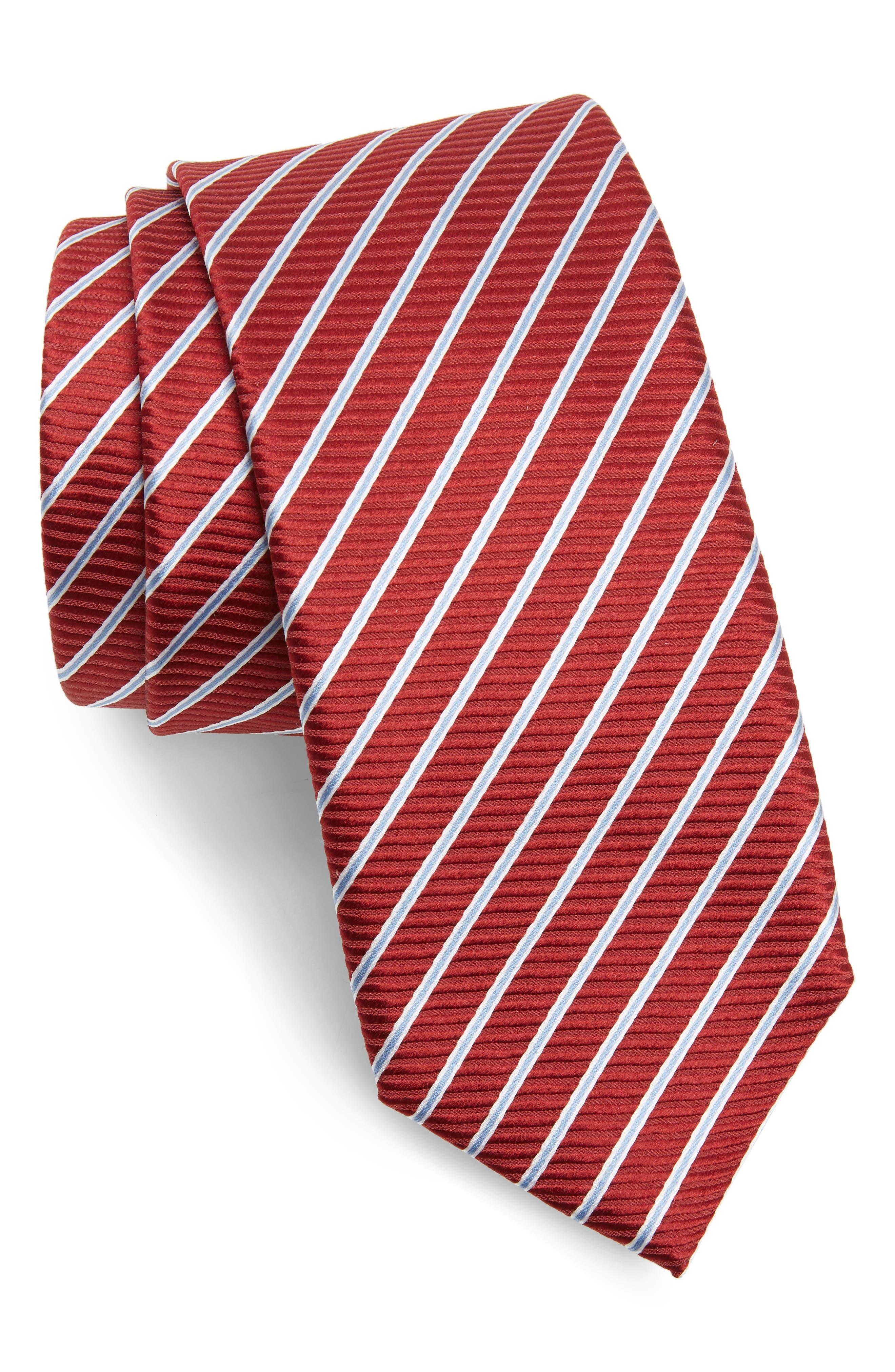 1920s Bow Ties | Gatsby Tie,  Art Deco Tie Mens Boss Stripe Silk Tie $65.66 AT vintagedancer.com