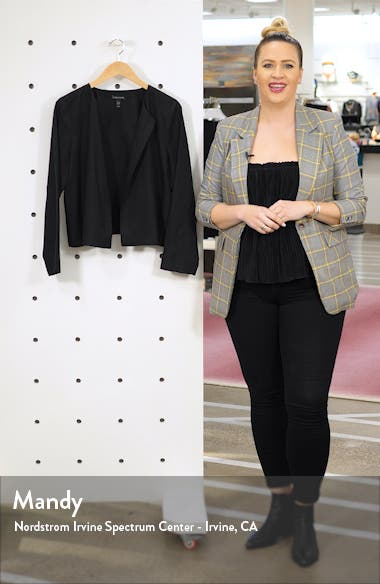 Crop Tencel<sup>®</sup> Lyocell Blend Jacket, sales video thumbnail