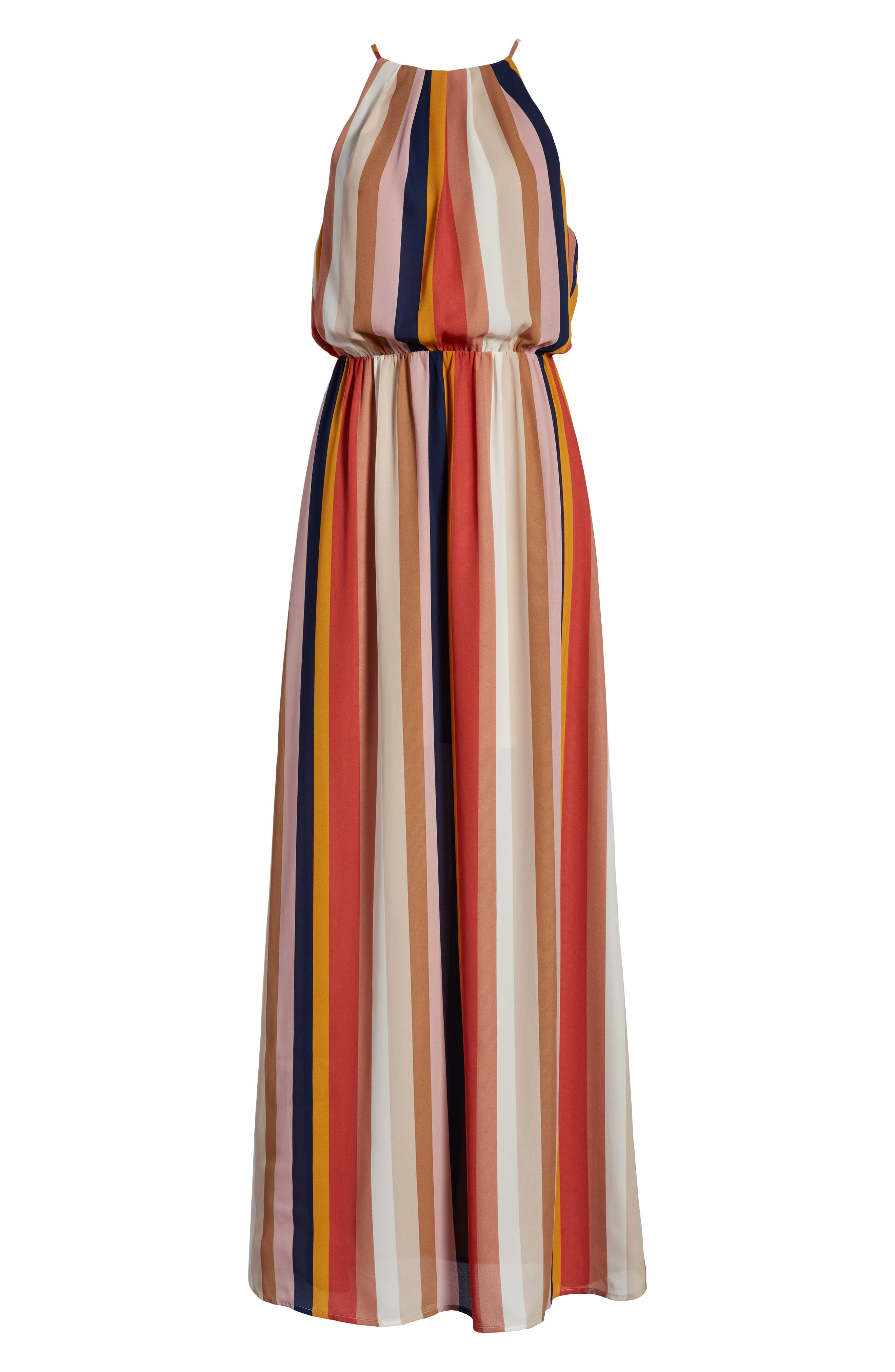 ,                             Blouson Maxi Dress,                             Alternate thumbnail 7, color,                             200