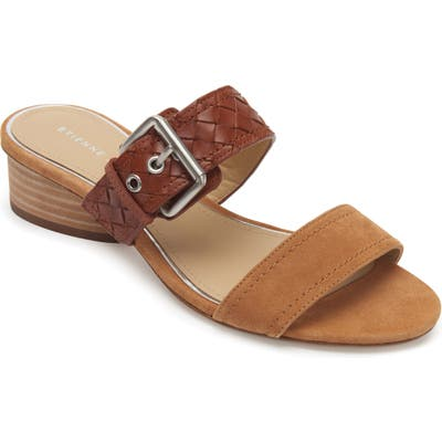 Etienne Aigner Preston Buckle Strap Slide Sandal, Brown