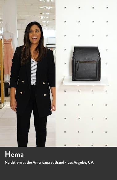 Ballard Calfskin Leather Backpack, sales video thumbnail