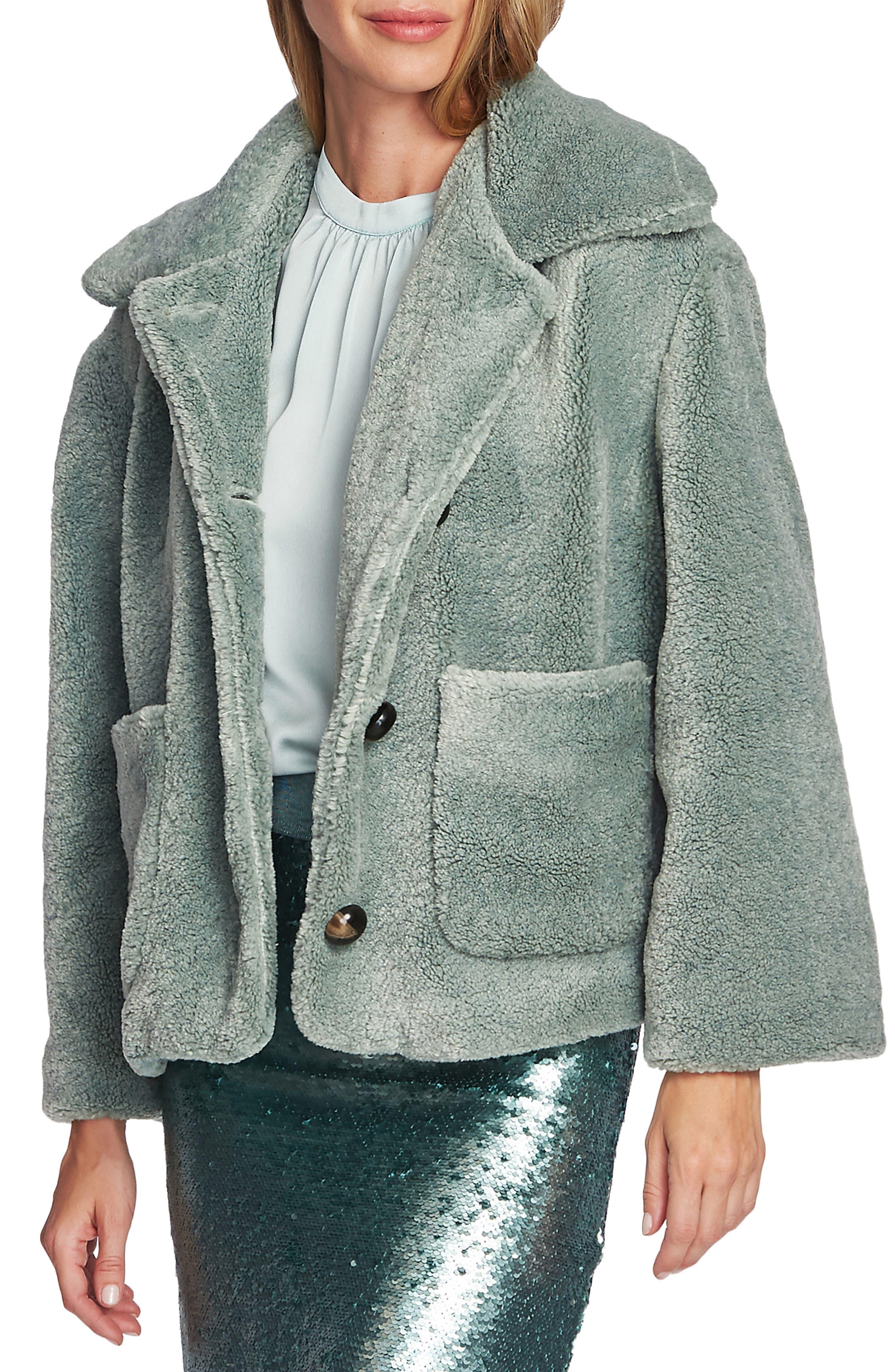 Vince Camuto Coats Crop Faux Fur Jacket