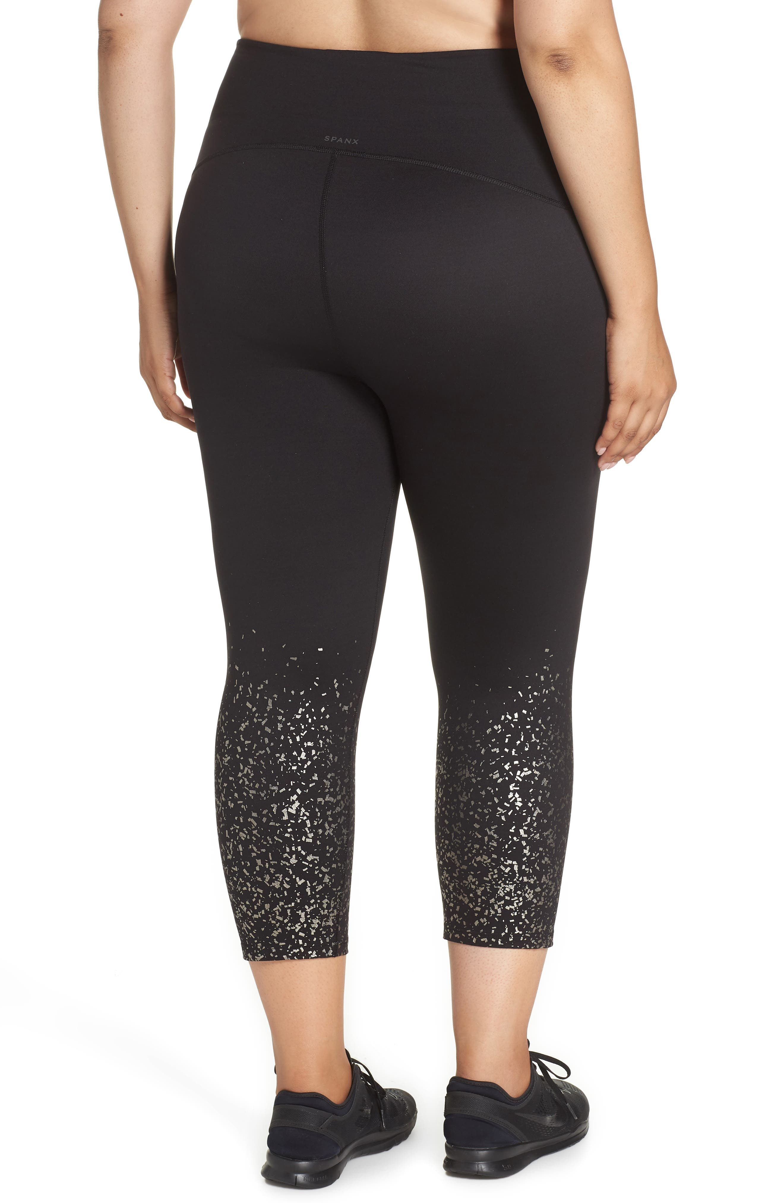 ,                             Active Print Crop Leggings,                             Alternate thumbnail 2, color,                             METALLIC CONFETTI