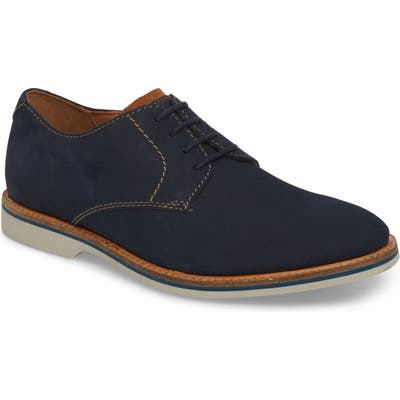 Clarks Atticus Plain Toe Derby- Blue