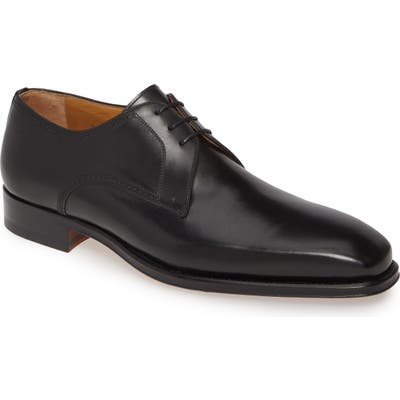 Magnanni Leon Plain Toe Derby- Black