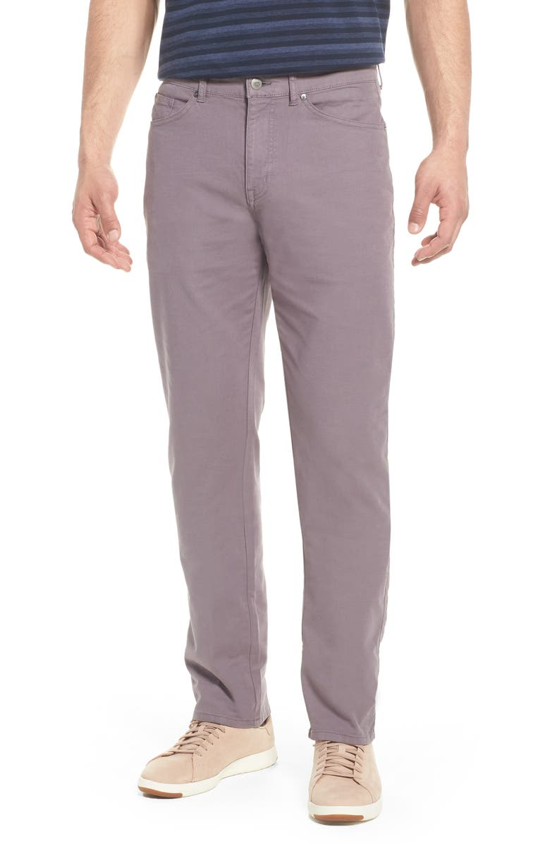 PETER MILLAR Crown Vintage Canvas Pants, Main, color, MID GREY