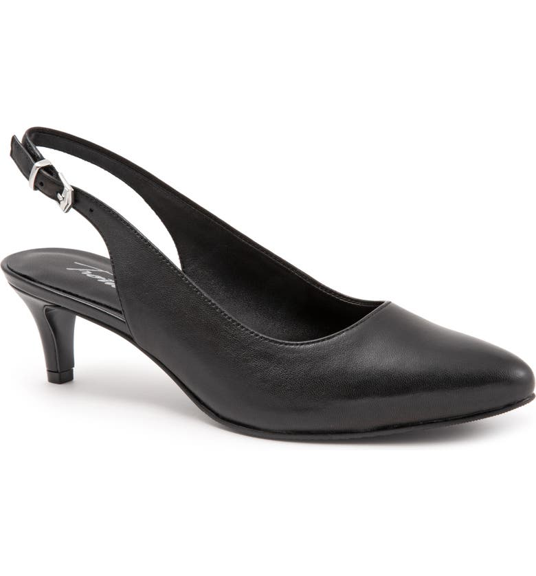 TROTTERS Keely Slingback Pump, Main, color, BLACK LEATHER