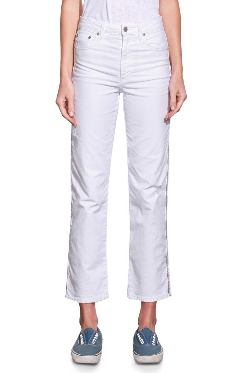 SUNDRY High Waist Jeans, Main, color, WHITE