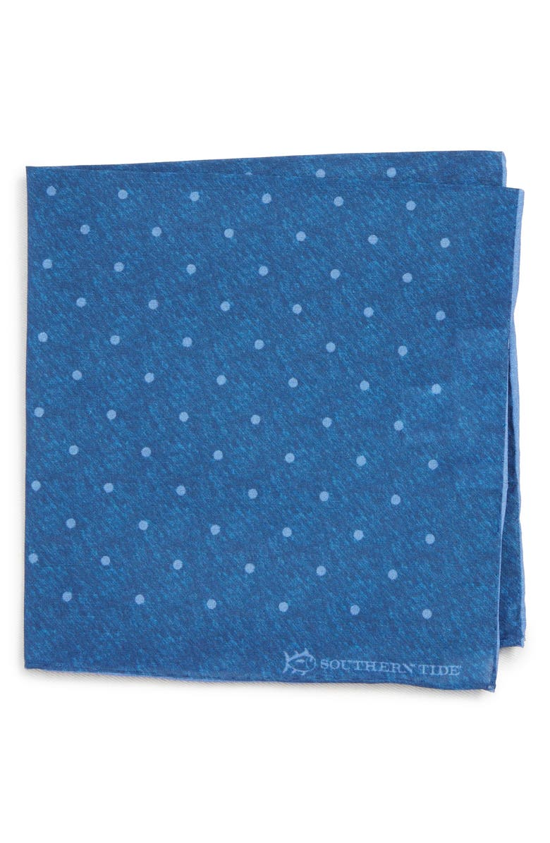 SOUTHERN TIDE Bethany Dot Cotton & Silk Pocket Square, Main, color, 400