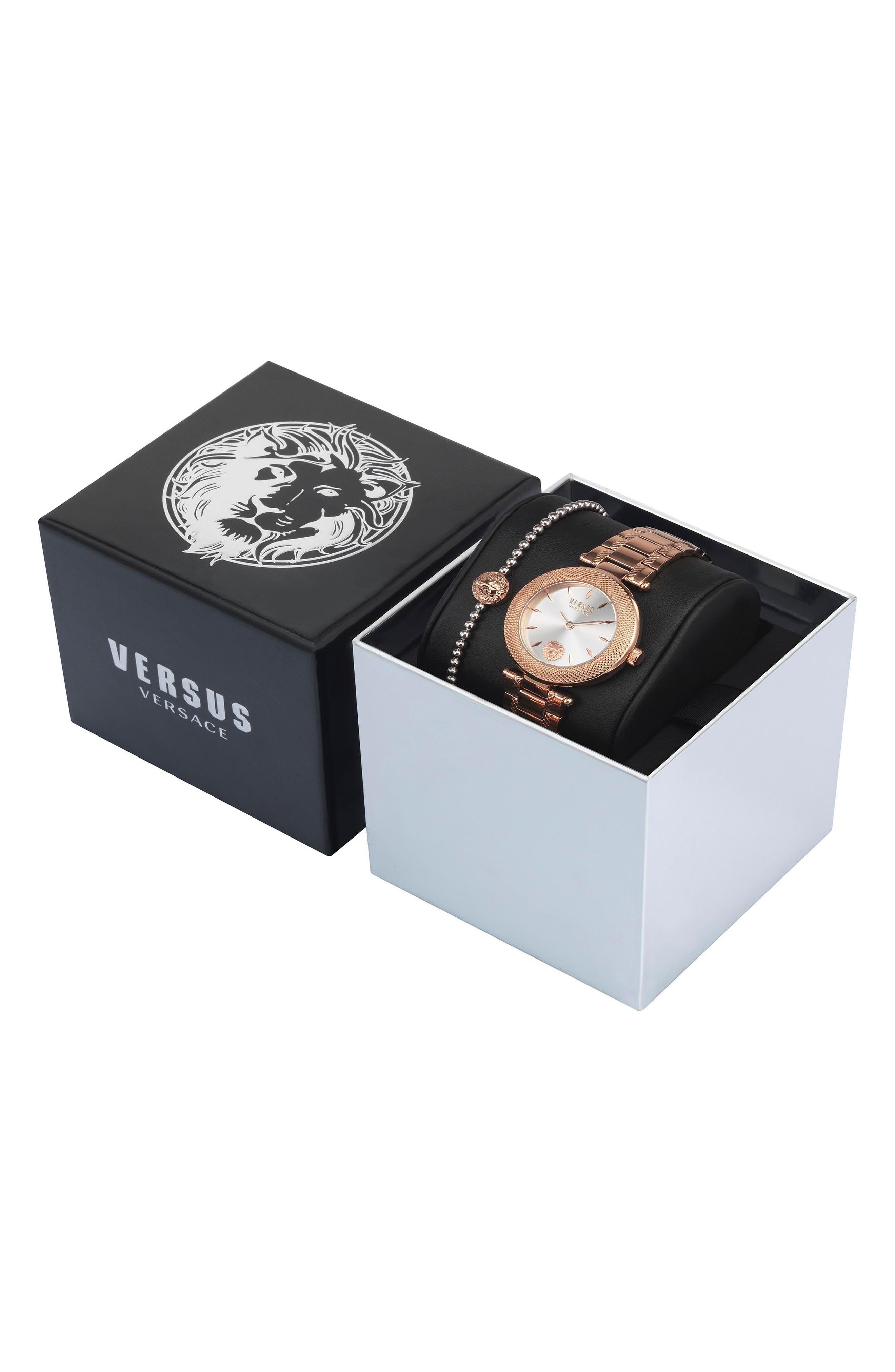 ,                             Bricklane Watch Set, 36mm,                             Alternate thumbnail 4, color,                             ROSE GOLD/ SILVER