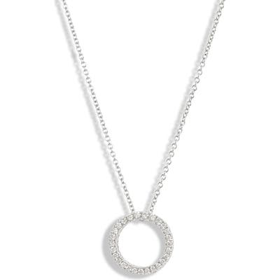 Bony Levy 3D Small Diamond Circle Pendant Necklace (Nordstrom Exclusive)