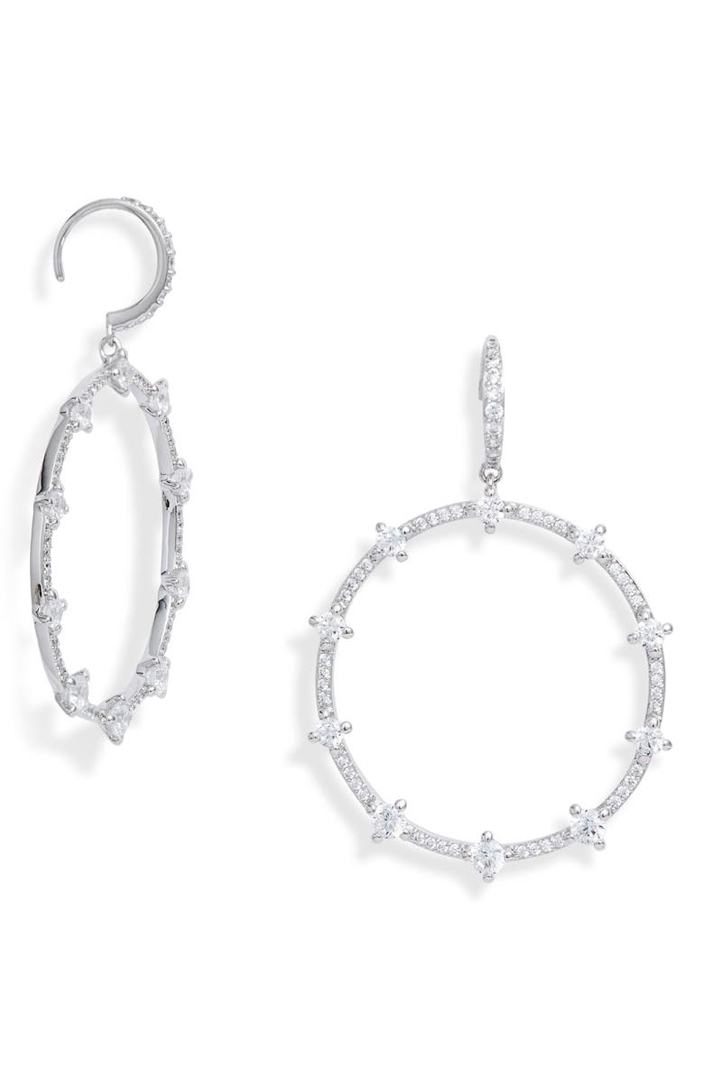 Issa Cubic Zirconia Frontal Hoop Earrings by Nadri