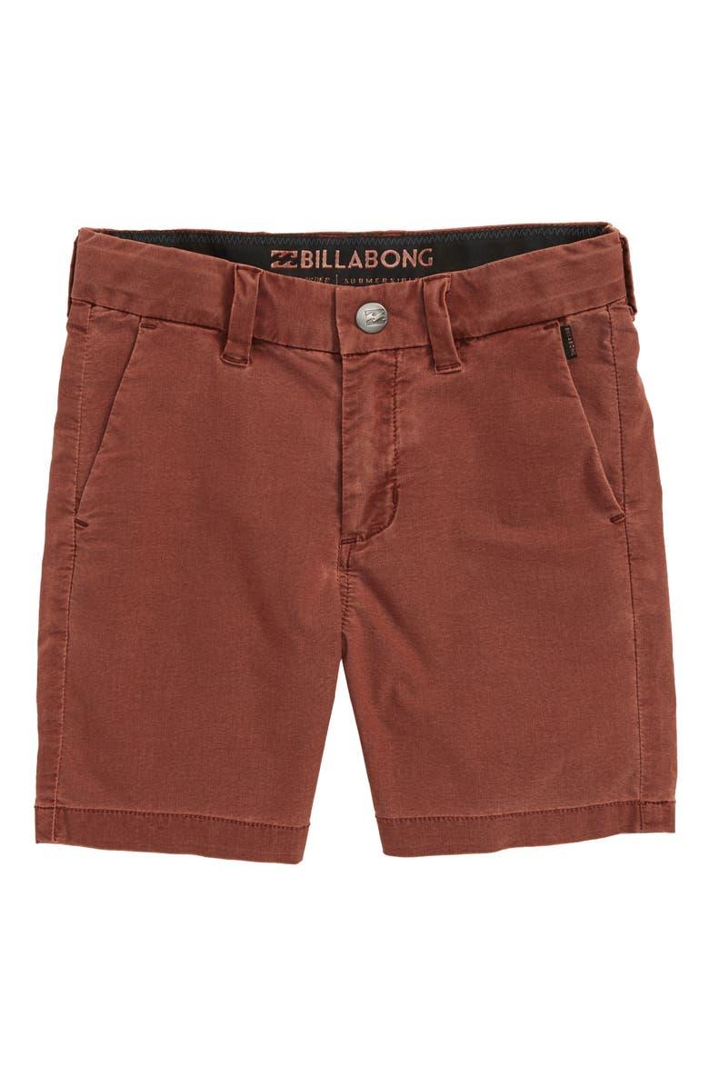 BILLABONG New Order X Hybrid Shorts, Main, color, SANGRIA
