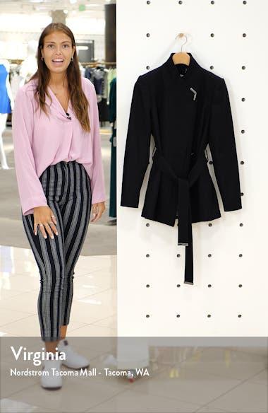 Wool Blend Short Wrap Coat, sales video thumbnail
