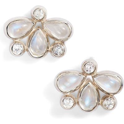 Anzie Fleur Firefly Blue Moonstone Stud Earrings