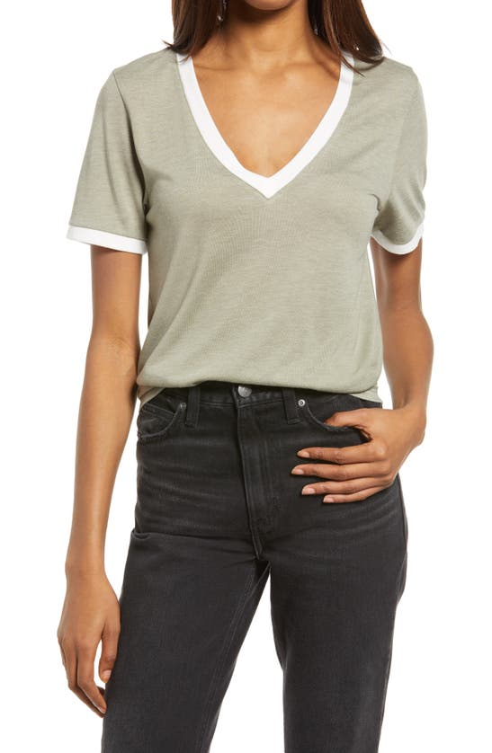 TREASURE & BOND T-shirts RINGER V-NECK T-SHIRT