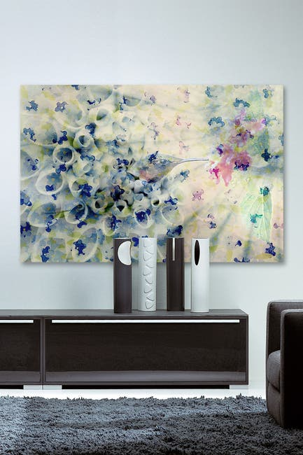 "Image of Marmont Hill Inc. Humming Painting Print on Wrapped Canvas - 18"" x 12"""