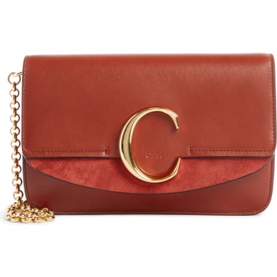 Chloe Mini Leather Shoulder Bag - Brown