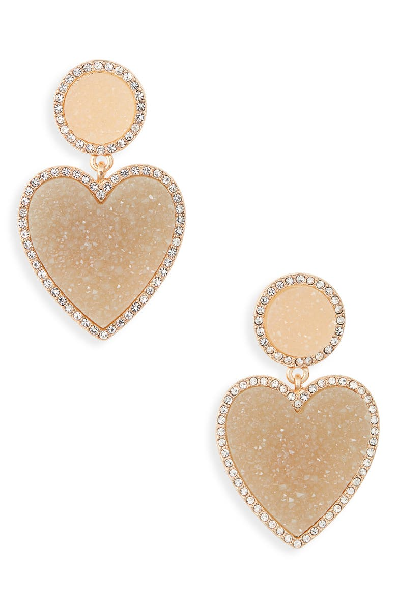 BAUBLEBAR Asimina Drusy Drop Earrings, Main, color, 250