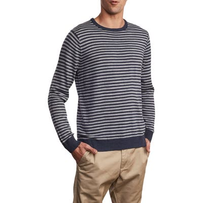 Rvca Kemper Stripe Sweater, Grey