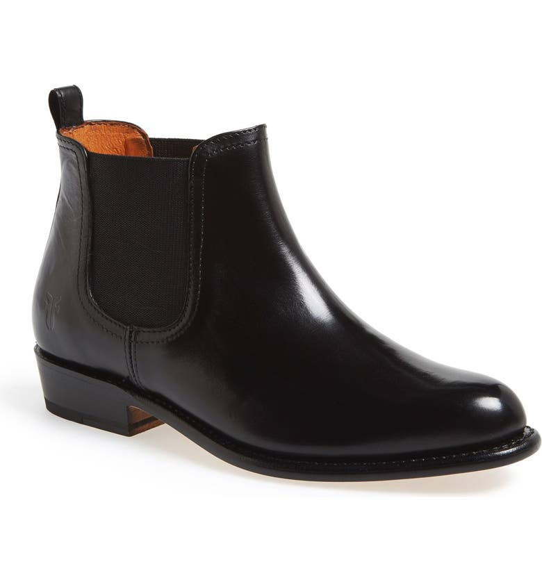 FRYE 'Dorado' Leather Chelsea Bootie, Main, color, 001
