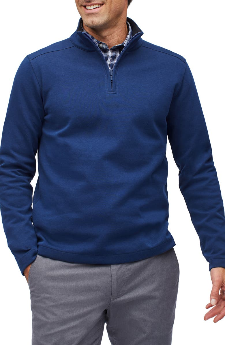 BONOBOS Wear to Work Quarter Zip Pullover, Main, color, COPEN NAVY