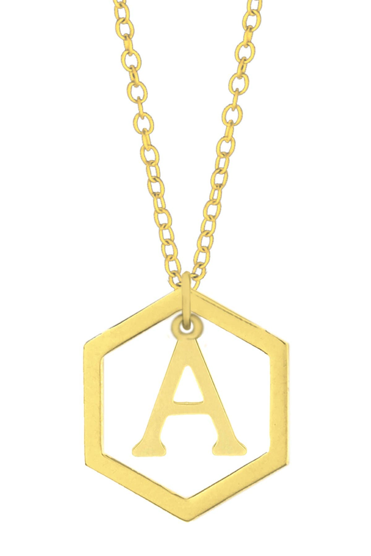 Image of Savvy Cie Geometric Initial Necklace