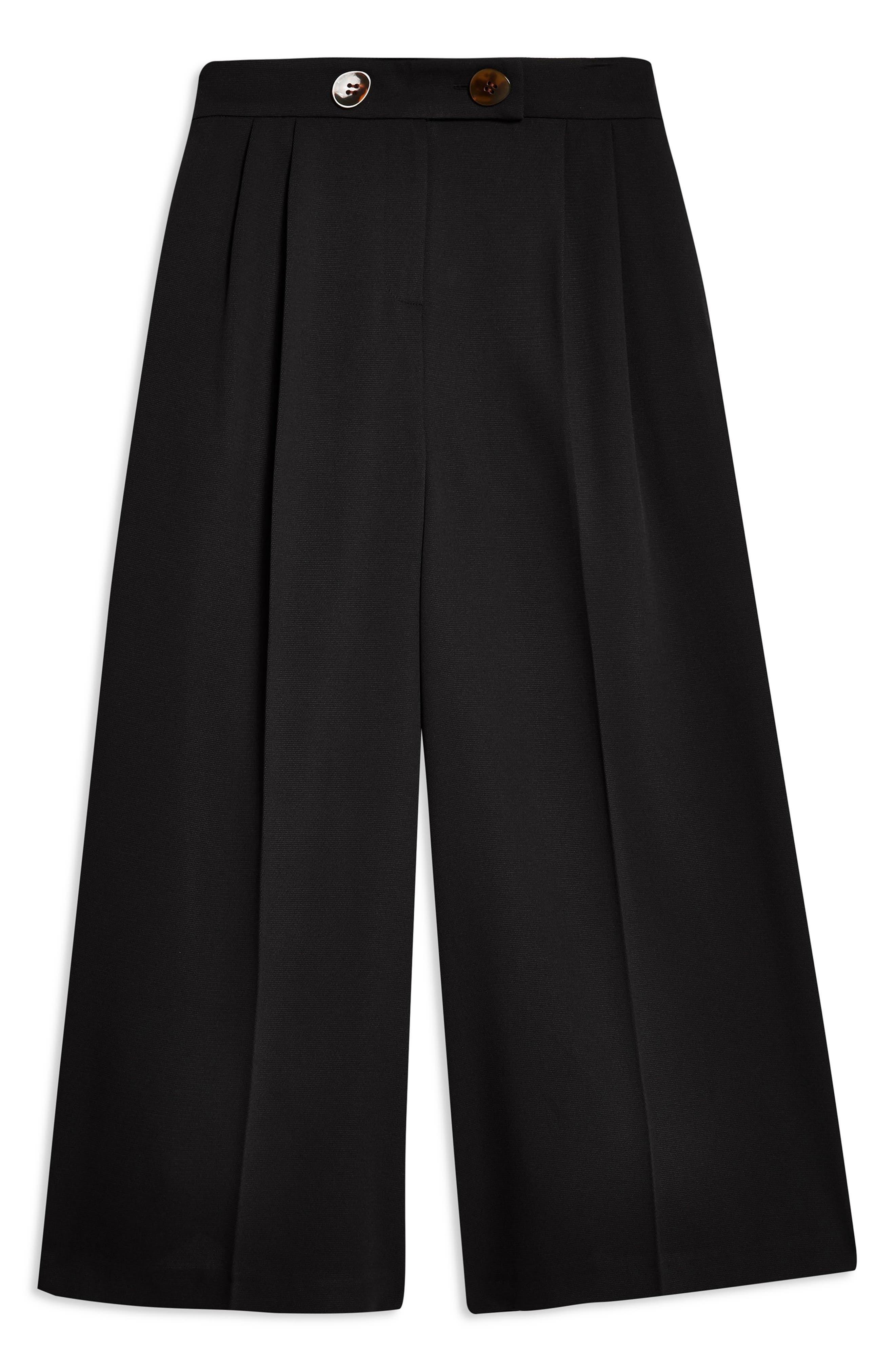 ,                             Rita Cropped Wide Leg Trousers,                             Alternate thumbnail 5, color,                             BLACK
