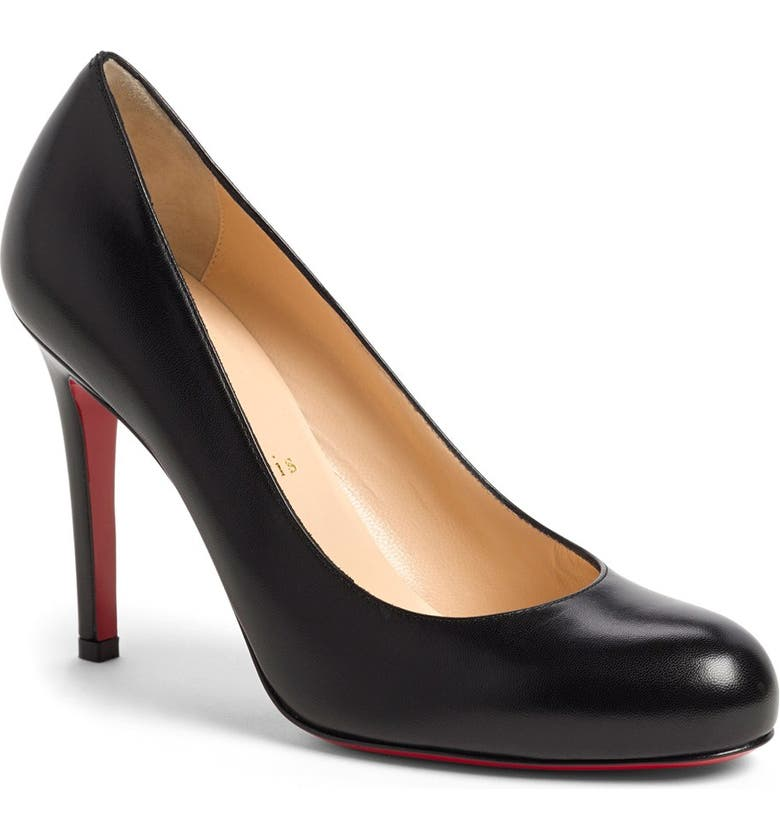 CHRISTIAN LOUBOUTIN 'Simple' Single Sole Pump, Main, color, 002